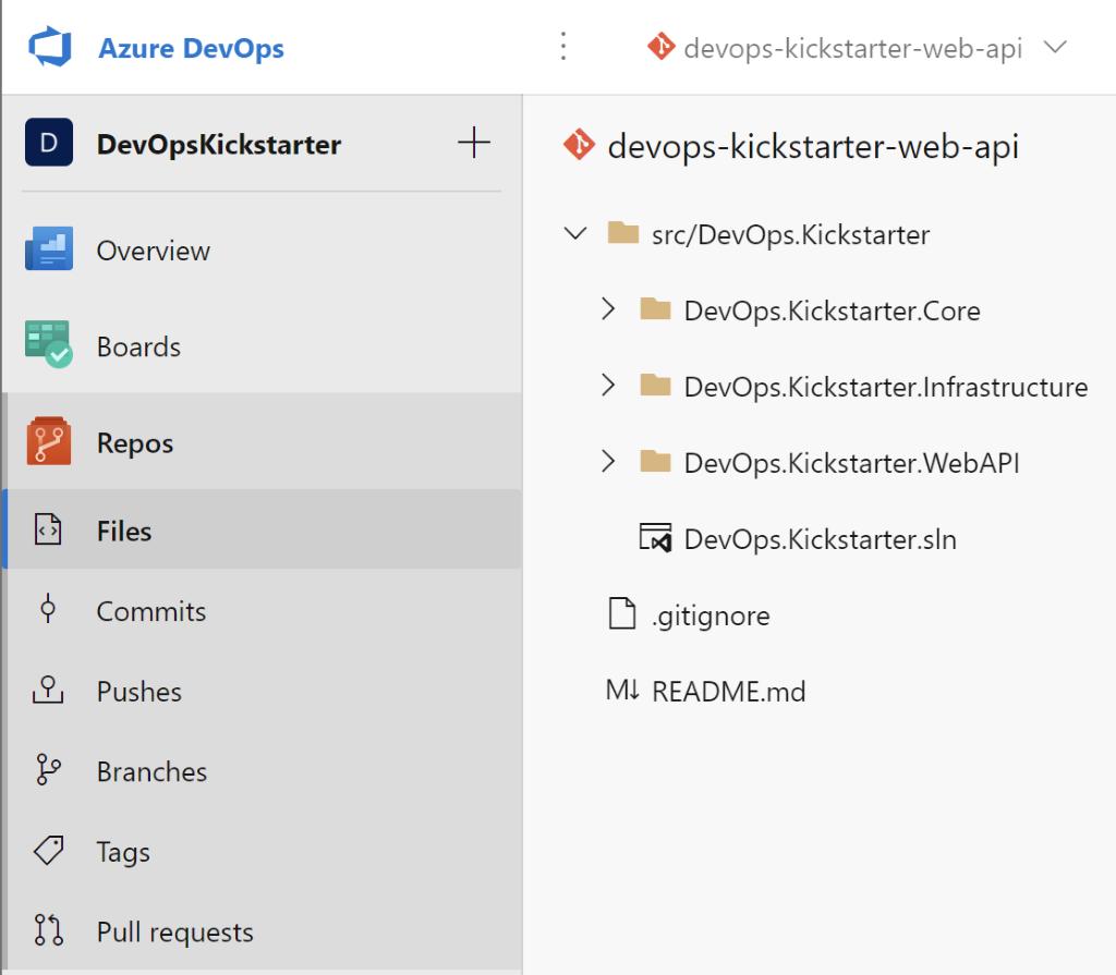 A repository in Azure DevOps