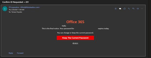 phishing mail example