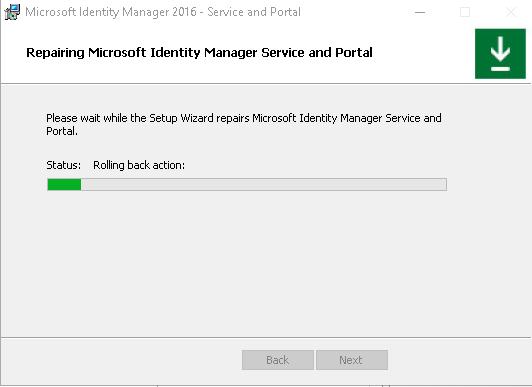 Screenshot from Microsoft Identity Manager communicate