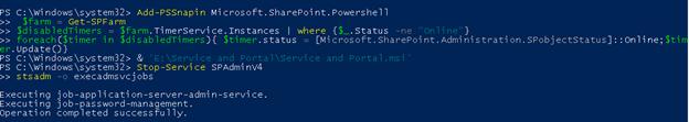 Disabling SharePoint Admin Service